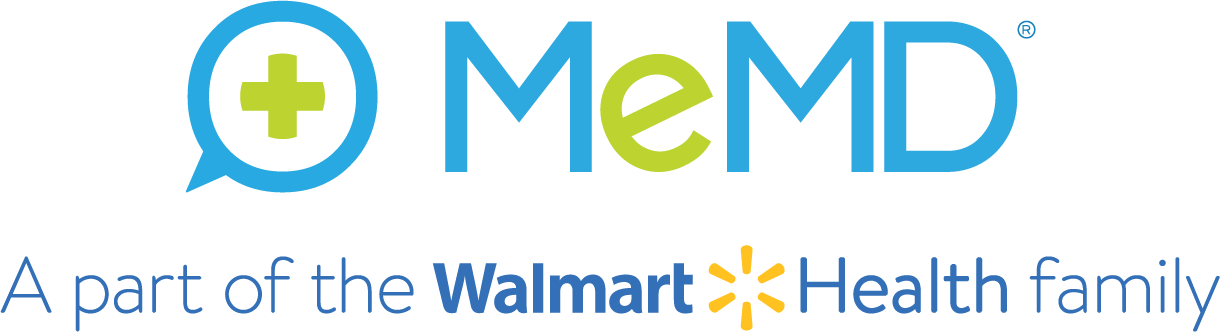 MeMD - A part of the MeMD-Walmart _ Health family - logo - blue - Stacked